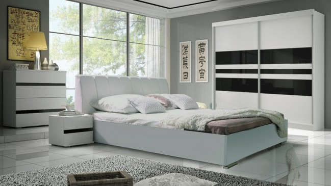 saragossa white bedroom set