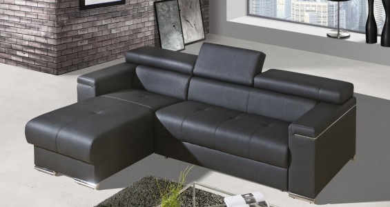 silver corner sofa bed