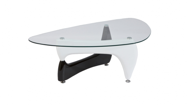 omega coffee table black white