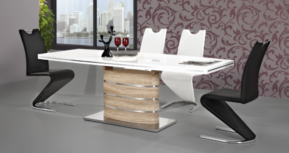 fano oak sonoma dining table