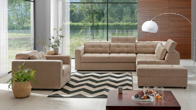 palmiro corner sofa bed