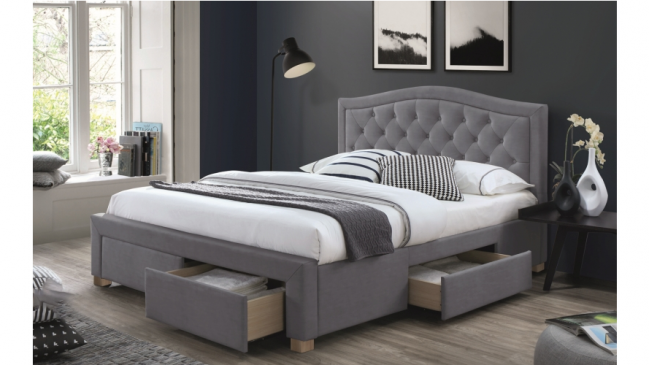 electra bed frame grey