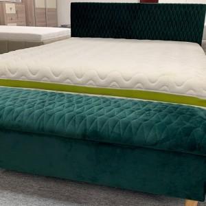 AZURRO GREEN VELVET KING SIZE BED FRAME + ADDITIONAL ELEMENTS