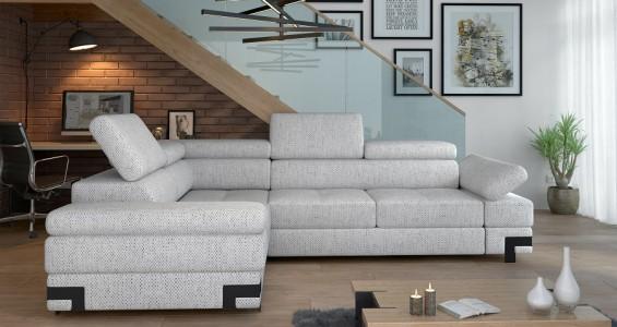 emporio l2 corner sofa bed