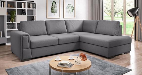 logan L corner sofa bed