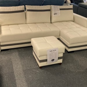 MILTON CORNER SOFA BED + FOOTSTOOL