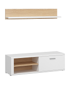 TV UNIT 140 + P140 €129   H44/W140/D42 CM + H25/W140/D22 CM