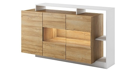 Alva chest of drawers  €229 / H94 / W155 /D30-44 CM